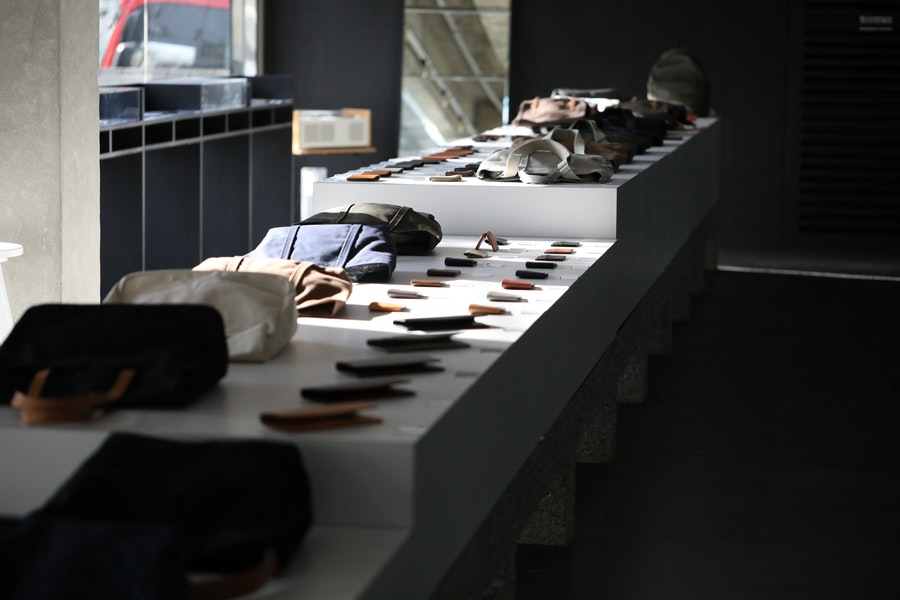 A collection of Makr Studio products at a Pop-Up Store in Seoul.