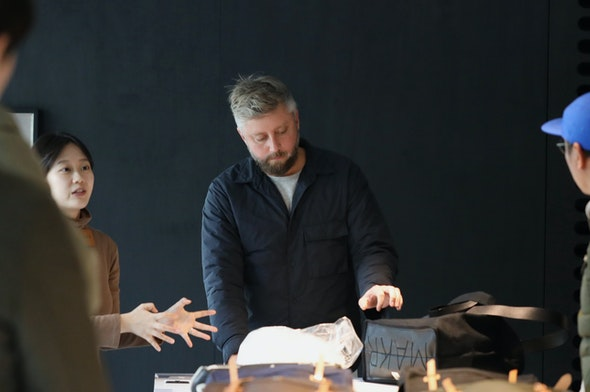 Jason Gregory of Makr during one of the daily designer talks.