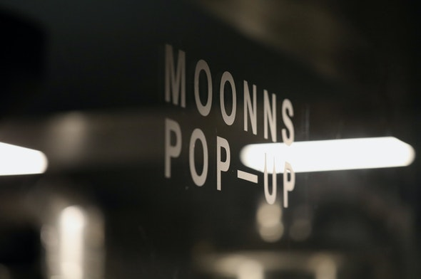 More signage at the Makr x Moonns collaboration store in Seoul.